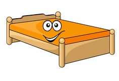 Comfortable cartoon bed Royalty Free Stock Image