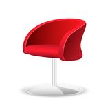 Comfortable Chair. Illustration of comfortable trendy chair on white background Royalty Free Stock Photography