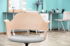 Comfortable chair in   room. Comfortable chair in makeup room Stock Image
