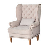 Comfortable classic grey chair isolated Royalty Free Stock Images
