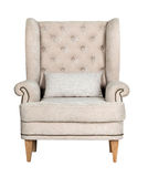 Comfortable classic grey chair isolated Royalty Free Stock Photos