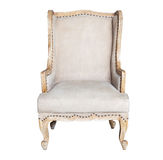Comfortable classic grey chair isolated Stock Image