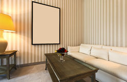 Comfortable classic living room Royalty Free Stock Photo