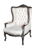 Comfortable classic white chair isolated Stock Photography
