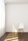 Comfortable conner, chair and sunlight in relaxing morning. Royalty Free Stock Photos