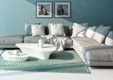 Comfortable contemporary lounge interior Stock Photo