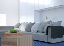 Comfortable corner settee in a modern living room Royalty Free Stock Photos