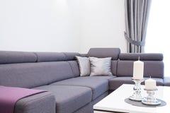Comfortable corner sofa Royalty Free Stock Photography