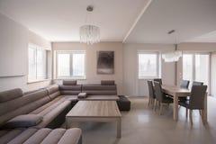 Comfortable corner sofa Stock Image
