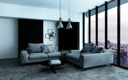 Comfortable corner in a spacious living room Royalty Free Stock Photo