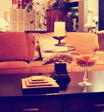 A comfortable cozy interior close up of a living room space tone Stock Image