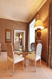 Comfortable dining room. Interior luxury apartment, comfortable dining room Royalty Free Stock Photos
