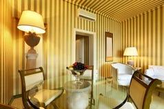 Comfortable dining room. Interior luxury apartment, comfortable dining room Stock Photos