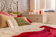 Comfortable double bed Royalty Free Stock Photo