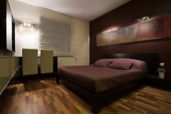 Comfortable elegant bedroom Stock Photos