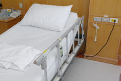 Comfortable hospital bed Stock Image