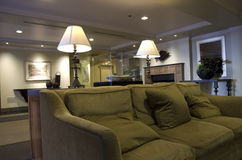 Comfortable hotel lobby furniture. Nice and homey lobby in a popular luxury popular hotel Royalty Free Stock Photos