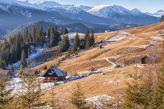 Comfortable house in the Carpathian mountains Stock Images