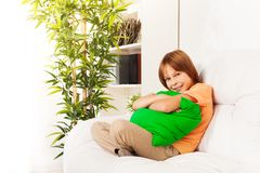 Comfortable hugging pillow Stock Photography