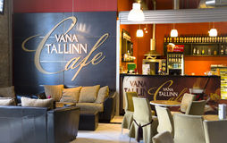 Comfortable interior of cafe Vana Tallinn Royalty Free Stock Image