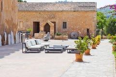 Spanish interior courtyard Royalty Free Stock Image