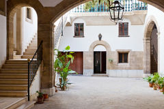Spanish interior courtyard Royalty Free Stock Images