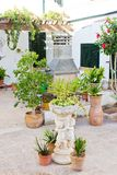 Spanish interior courtyard Royalty Free Stock Photo