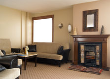 Comfortable interior in etno style for relax Royalty Free Stock Photography