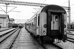 Comfortable journey. Railway station in kraljevo Stock Photos