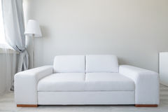 Comfortable leather double sofa Royalty Free Stock Photos