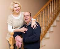 Comfortable life of elderly couple Stock Images