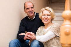 Comfortable life of elderly couple Royalty Free Stock Photo