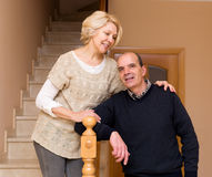 Comfortable life of elderly couple Stock Image