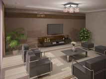 Comfortable living room .  Royalty Free Stock Photos
