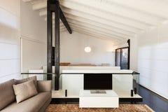 Comfortable loft. Interior, comfortable loft, modern furniture Royalty Free Stock Photo