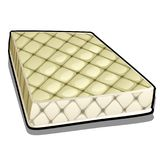 Comfortable mattress isolated on white background. Vector cartoon close-up illustration. Comfortable mattress isolated on white background. Vector cartoon close royalty free illustration