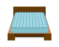 Comfortable mattress for sleeping on the bed. Vector illustration Royalty Free Stock Images