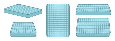 Comfortable mattress for sleeping in different position. Vector illustration stock illustration