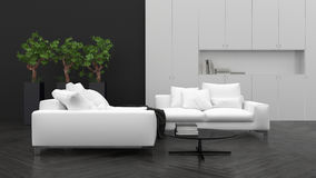 Comfortable minimalist living room interior Royalty Free Stock Photos
