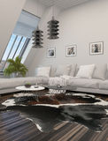 Comfortable modern living room interior Stock Photo