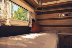Comfortable Motorhome Interior royalty free stock images