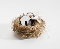 Comfortable nest for new home ownership stock photos