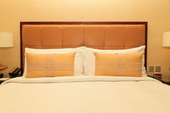 Comfortable pillows and bed Royalty Free Stock Photo