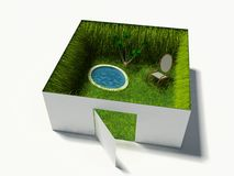 Comfortable place. Grassed home interior (computer generated image Stock Photography