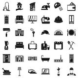 Comfortable place icons set, simple style. Comfortable place icons set. Simple style of 36 comfortable place vector icons for web isolated on white background Stock Photography