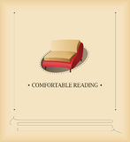 Comfortable reading vector illustration