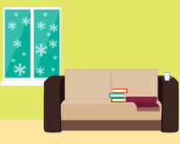 Comfortable room with a sofa Stock Photo