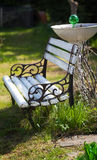 Comfortable seating in garden Stock Image