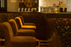 Comfortable seating in a nightclub Royalty Free Stock Images