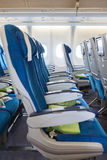 Comfortable seats in aircraft cabin Stock Image